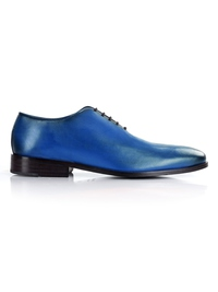 Dark Blue Premium Wholecut Oxford shoe image