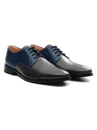 Dark Blue and Gray Premium Plain Derby alternate shoe image