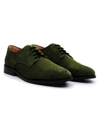 Dark Green Premium Plain Derby alternate shoe image