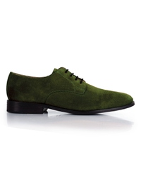 Dark Green Premium Plain Derby main shoe image