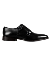 Black Premium Double Strap Monk main shoe image