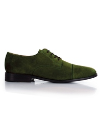 Dark Green Premium Toecap Derby main shoe image