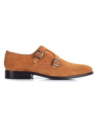 Beige Premium Double Strap Monk main shoe image