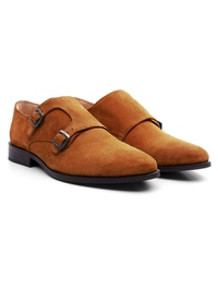 Tan Premium Double Strap Monk alternate shoe image