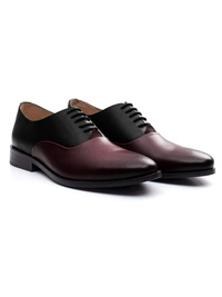 Black and Burgundy Premium Plain Oxford alternate shoe image