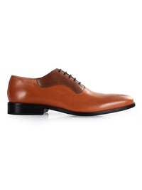 Tan and Coffee Brown Premium Eyelet Wholecut Oxford main shoe image