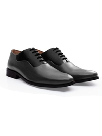 Gray and Black Premium Eyelet Wholecut Oxford alternate shoe image