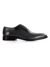 Gray and Black Premium Eyelet Wholecut Oxford main shoe image