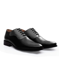 Black and Gray Premium Eyelet Wholecut Oxford alternate shoe image