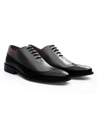 Gray and Black Premium Wingtip Oxford alternate shoe image