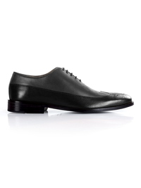 Gray and Black Premium Wingtip Oxford main shoe image