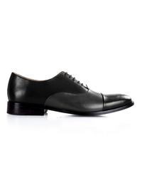 Black and Gray Premium Toecap Oxford shoe image