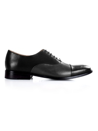 Black and Gray Premium Toecap Oxford main shoe image