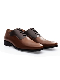 Coffee Brown and Brown Premium Eyelet Wholecut Oxford alternate shoe image
