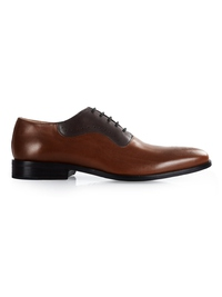 Coffee Brown and Brown Premium Eyelet Wholecut Oxford main shoe image