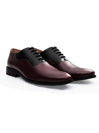 Burgundy and Black Premium Eyelet Wholecut Oxford alternate shoe image
