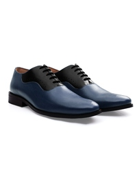 Dark Blue and Black Premium Eyelet Wholecut Oxford alternate shoe image