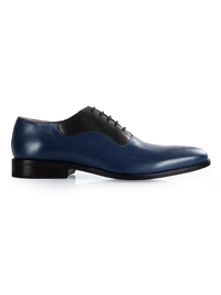 Dark Blue and Black Premium Eyelet Wholecut Oxford main shoe image