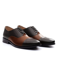 Brown and Coffee Brown Premium Toecap Oxford alternate shoe image