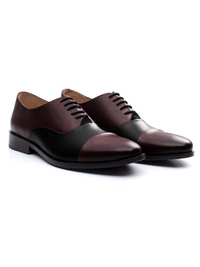 Burgundy and Black Premium Toecap Oxford alternate shoe image