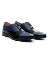Dark Blue and Black Premium Toecap Oxford alternate shoe image