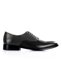 Gray and Black Premium Plain Oxford main shoe image