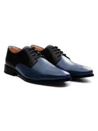 Black and Dark Blue Premium Plain Derby alternate shoe image