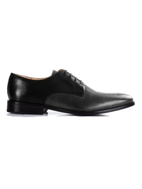 Black and Gray Premium Plain Derby main shoe image