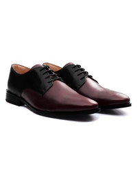 Black and Burgundy Premium Plain Derby alternate shoe image