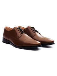 Coffee Brown Premium Toecap Derby alternate shoe image