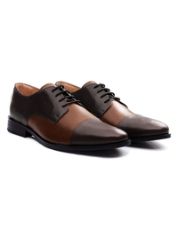 Brown and Coffee Brown Premium Toecap Derby alternate shoe image