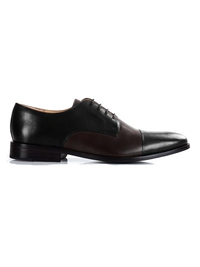 Black and Brown Premium Toecap Derby main shoe image