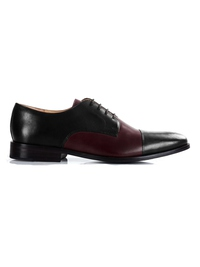 Black and Burgundy Premium Toecap Derby main shoe image